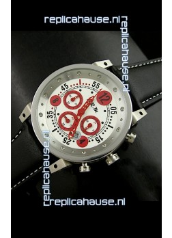 B.R.M.0011G6 Japanese Replica Quartz Watch in White&Red Dial