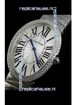 Cartier Ballon de Swiss Replica Watch in White Dial