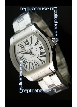 Cartier Roadster Swiss Replica Watch Stainless Steel - 38MM Wide