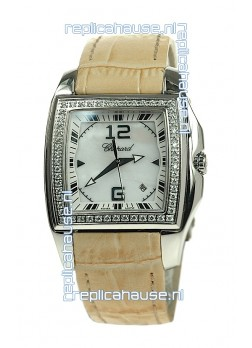 Chopard Two O Ten Ladies Swiss Replica Watch in Yellow Strap