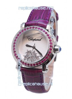 Chopard Happy Sport Star Shaped Diamonds Swiss Watch
