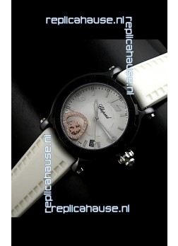 Chopard Limited Edition Swiss Replica Watch in White Strap