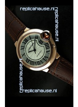 Ballon De Cartier Swiss Replica Watch in Rose Gold - 1:1 Mirror Replica