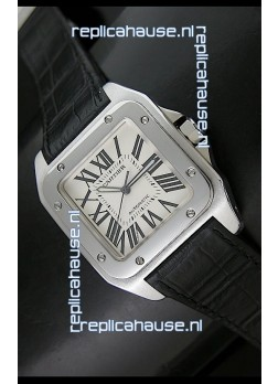 Cartier Santos 100 Swiss Automatic Watch - 1:1 Mirror Replica