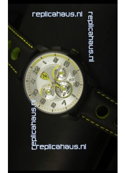 Scuderia Ferrari Heritage SF107 Chronograph Watch in Black Steel