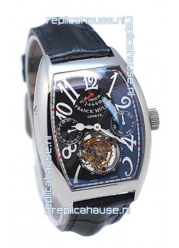 Franck Muller Casablanca Calender Tourbillon Swiss Watch in Black Dial