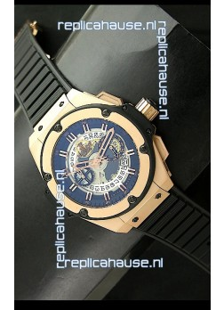 Hublot Big Bang King Power Skeleton Swiss Watch in Rose Gold