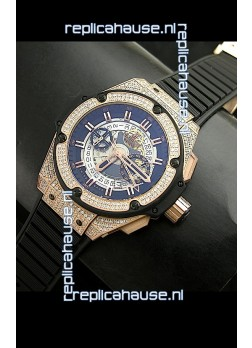 Hublot Big Bang King Power Skeleton Swiss Watch Diamonds Casing