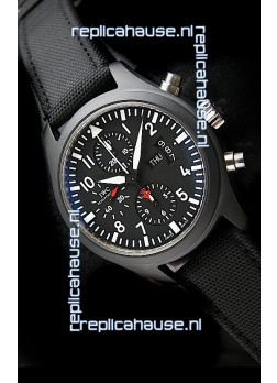 IWC Top Gun Ceramic Swiss Watch in Black