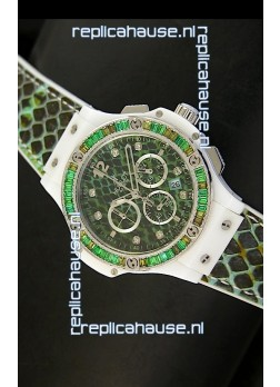 Hublot Big Bang BOA Bang Green Dial/Strap Watch 34MM