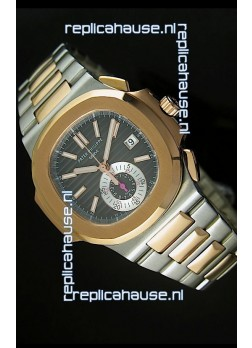 Patek Philippe Nautilus 5980 Chronograph Swiss Two Tone Watch - 1:1 Mirror Replica