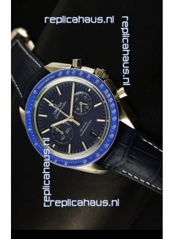 Omega Speedmaster Moon Watch Co-Axial Japanese Replica Watch Dark Blue Dial
