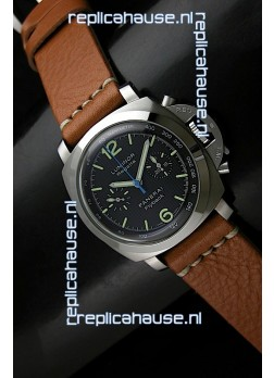 Panerai Luminor Regatta Flyback Swiss Watch in Steel - 1:1 Mirror Replica