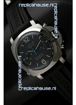 Panerai Luminor Regatta Swiss Replica Watch Rubber Strap - 1:1 Mirror Replica