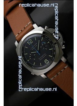 Panerai Luminor Regatta Swiss Replica Watch in Black Dial - 1:1 Mirror Replica