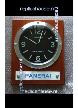 Panerai PAM255 Teak Wood Wall Clock White Dial - 1:1 Mirror Replica