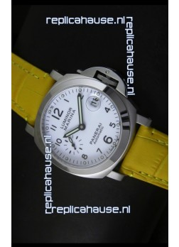 Panerai Luminor Marina PAM49 40MM Swiss Watch - Yellow Strap
