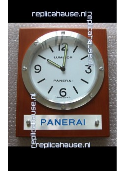 Panerai PAM255 Teak Wood Wall Clock Black Dial - 1:1 Mirror Replica