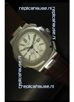 Patek Philippe Nautilus 5980 Brown Strap - 1:1 Ultimate Mirror Replica