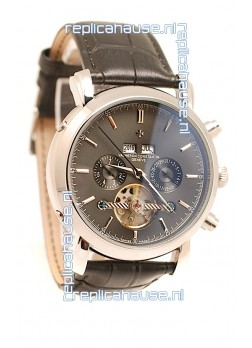 Vacheron Constantin Malte Tourbillon Japanese Replica Watch in Black Dial
