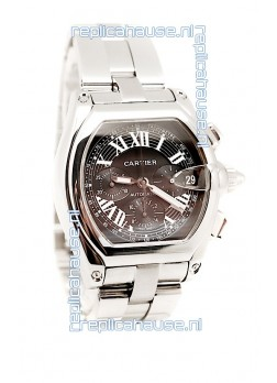 Cartier Roadster Chronograph Swiss Replica Watch in Black Dial