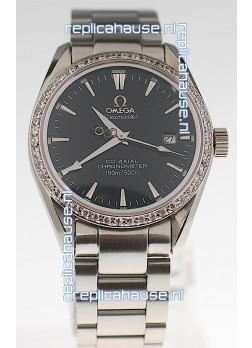 Omega SeaMaster CO AXIAL Swiss Replica Watch in Diamond Bezel