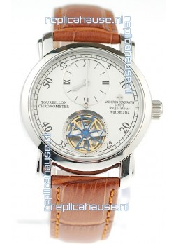 Vacheron Constantin Grand Complications Tourbillon Japanese Replica Watch in Brown Strap