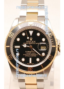 Rolex Submariner Two Tone Swiss Replica Watch Ceramic Bezel