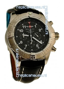 Breitling Chronograph Chronometre Japanese Watch in Black
