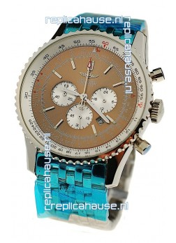 Breitling Navitimer Chronometre Japanese Watch in Brown Dial