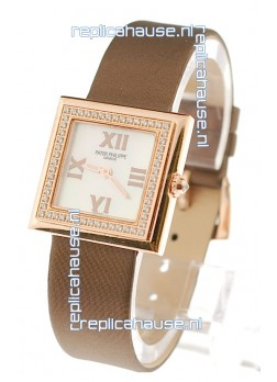 Patek Philippe Ladies Swiss Watch in White Dial