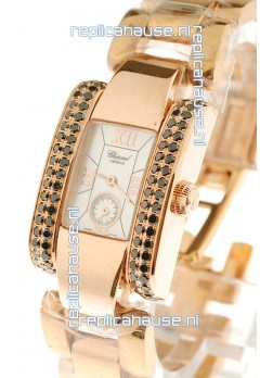 Chopard La Strada Swiss Ladies Replica Pink Gold Watch