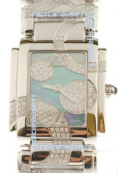 Patek Philippe Twenty Four Swiss Replica Steel Watch in Pearl Dial