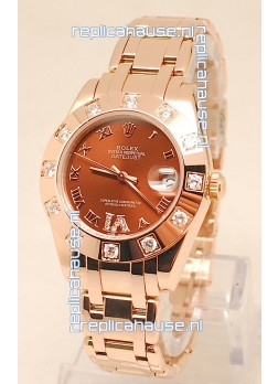 Rolex Datejust Swiss Replica Watch in Rose Gold - 36MM