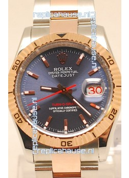 Rolex Datejust Turn O Graph Swiss Rose Gold Watch