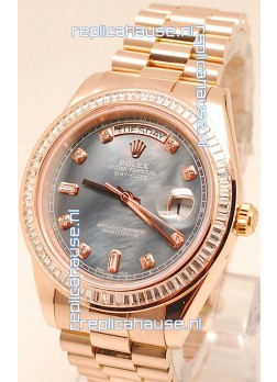 Rolex Day Date II Rose Gold Japanese Replica Watch