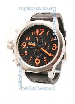 U-Boat Flightdeck Japanese Replica Watch in Orange Markers