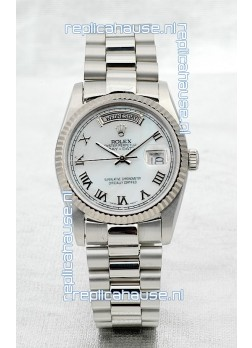 Rolex Day Date Silver Swiss Replica Watch