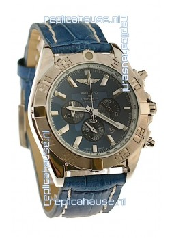 Breitling 1884 Chronometre Japanese Replica Watch in Blue