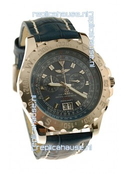 Breitling Chronograph Chronometre Japanese Replica Watch in Blue
