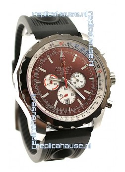 Breitling Chrono-Matic Chronometre Japanese Replica Watch in Maroon Dial