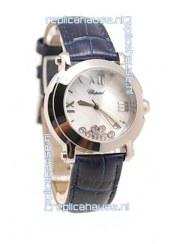 Chopard Happy Sport Ladies Swiss Replica Watch in White Dial