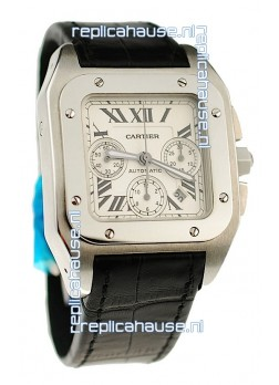 Cartier Santos 100 Swiss Chronograph Watch