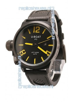 U-Boat Classico Japanese Replica PVD Watch in Yellow Markers