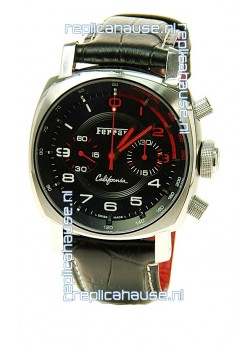 Ferrari by Panerai California Chronograph Swiss Replica Watch in Black Dial
