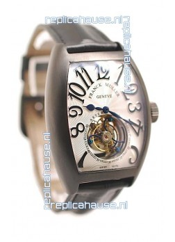 Franck Muller Aeternitas Tourbillon Swiss Replica PVD Watch in White Dial