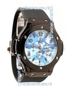 Hublot Big Bang Commando Blue Camouflage Japanese Watch