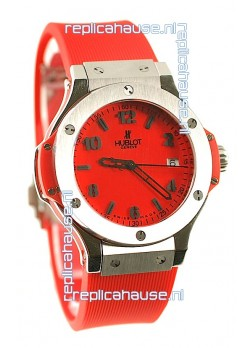 Hublot Big Bang Red Japanese Replica Watch in Swiss Casing