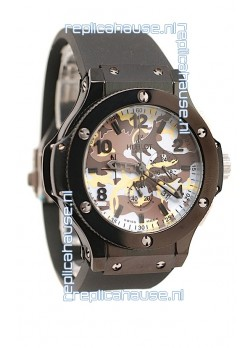 Hublot Big Bang Commando White Camouflage Japanese Watch