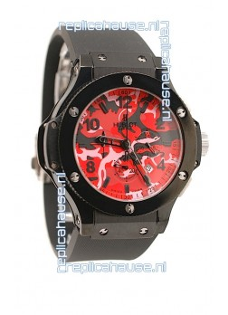 Hublot Big Bang Commando Red Camouflage Japanese Watch
